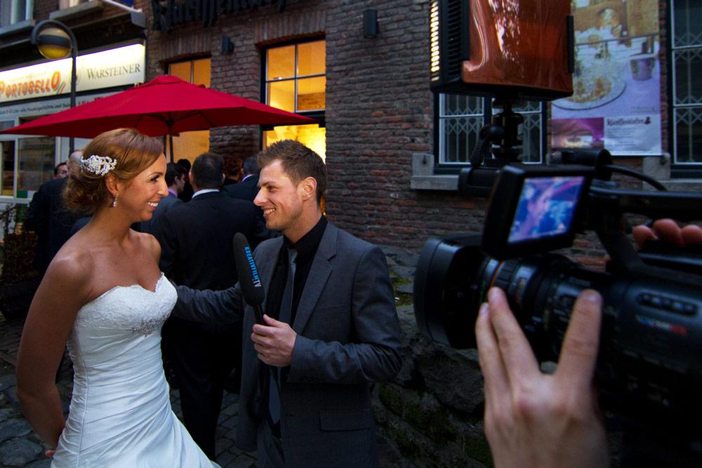 Interview bei der Hochzeit