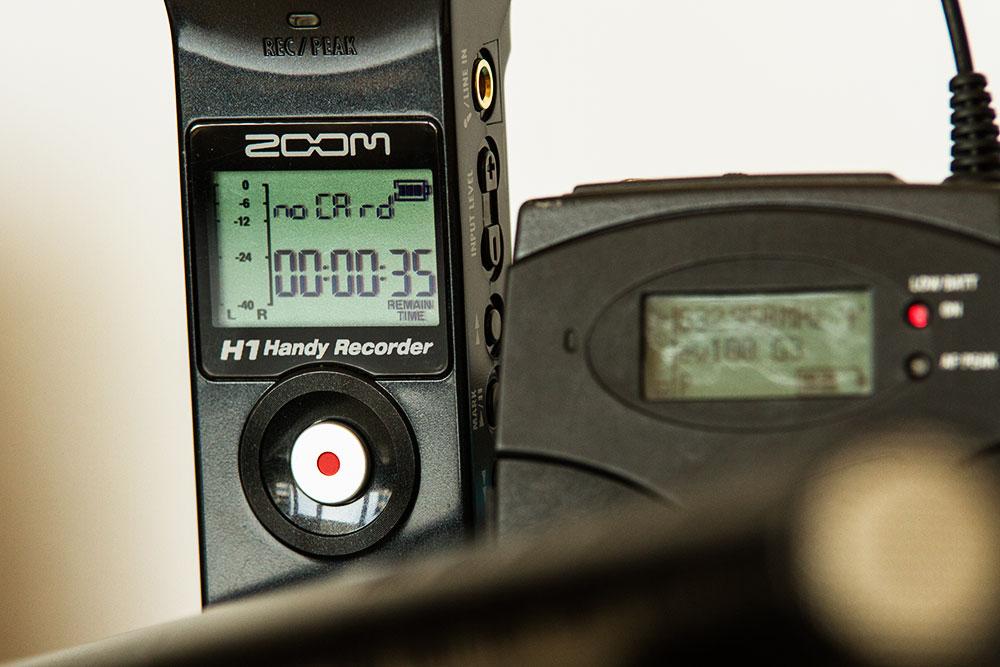 Aufnahmegerät des Videografen